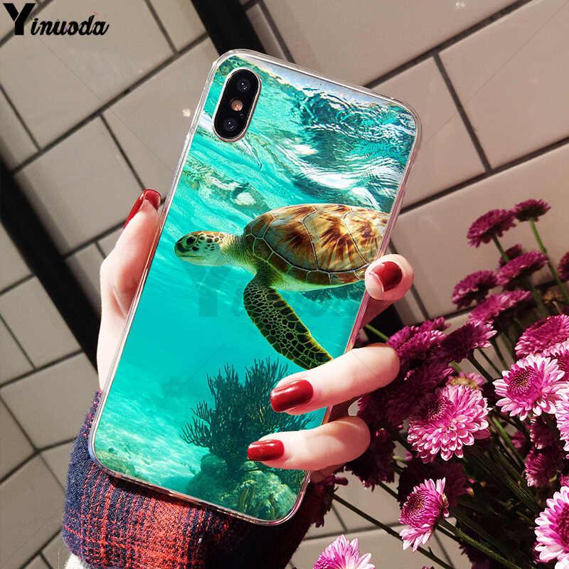 Yinuoda морской черепаха клиент высокое качество чехол для телефона Apple iPhone 8 7 6 6S Plus X XS MAX 5 5S SE XR чехол