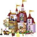 397 UNIDS Ciudad Amigo princesa Bella Bloques de Construcción del Castillo Encantado Compatible con legoeds