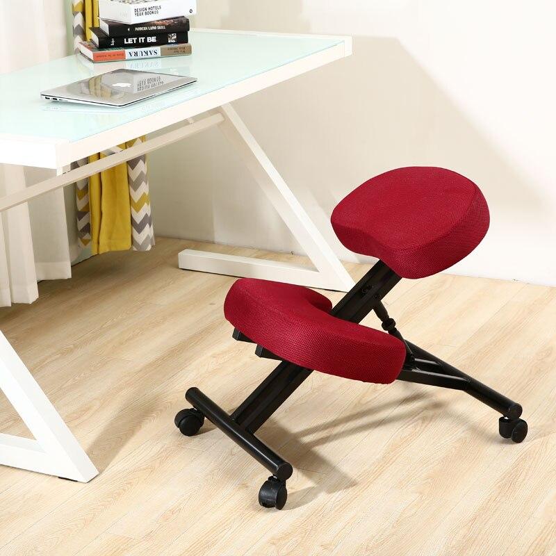 Ergonomically Designed Kneeling Chair Blue Fabric Cushion