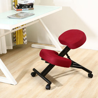 Ergonomically Designed Kneeling Chair Blue Fabric Cushion Modern Office Furniture Computer Chair Ergonomic Posture Knee Chair