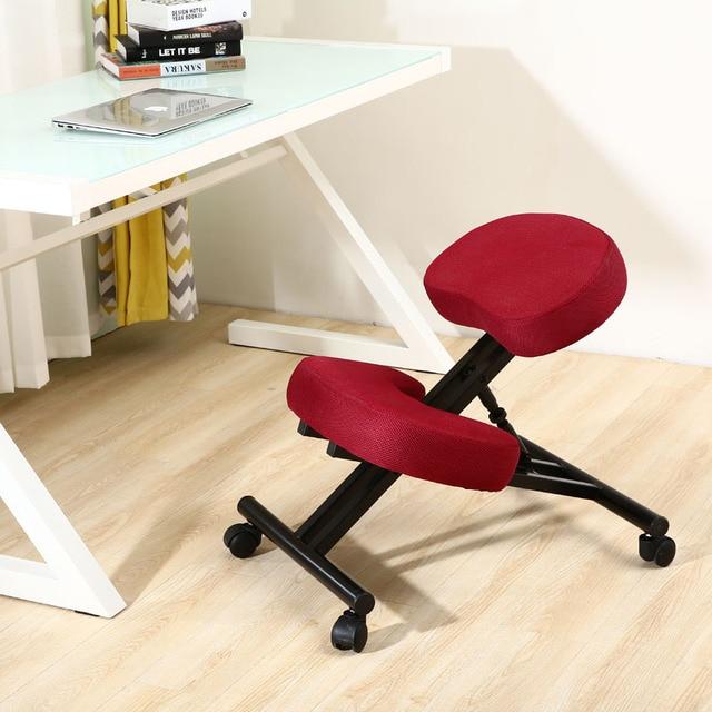 Ergonomische Bureaustoel Kniestoel.Ergonomisch Ontworpen Knielen Stoel Stof Kussen Zetel Moderne