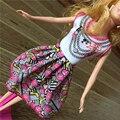 2016 новая Мода Куклы Платье Красивая Ручной Партии Одежды Платье Для Куклы Барби, Лучшие Детские игрушки Девочек Мода кукла