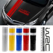 Mayitr 1 Pza 110*15cm W RC raya carreras pegatina deportiva 4 colores gráfico funda para el capó de coche Etiqueta de vinilo para piezas exteriores de coche