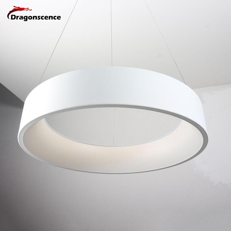 Round Aluminum Modern led Pendant light for living room bedroom dining office Pendant lamp lamparas de techo colgante moderna