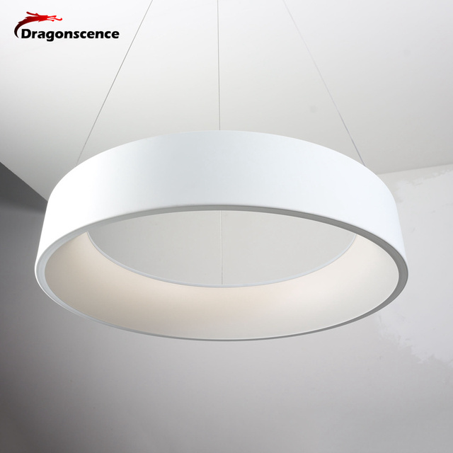 Dragonscence Round circle Aluminum Modern led Pendant light for living room bedroom dining office meeting room Pendant lamp