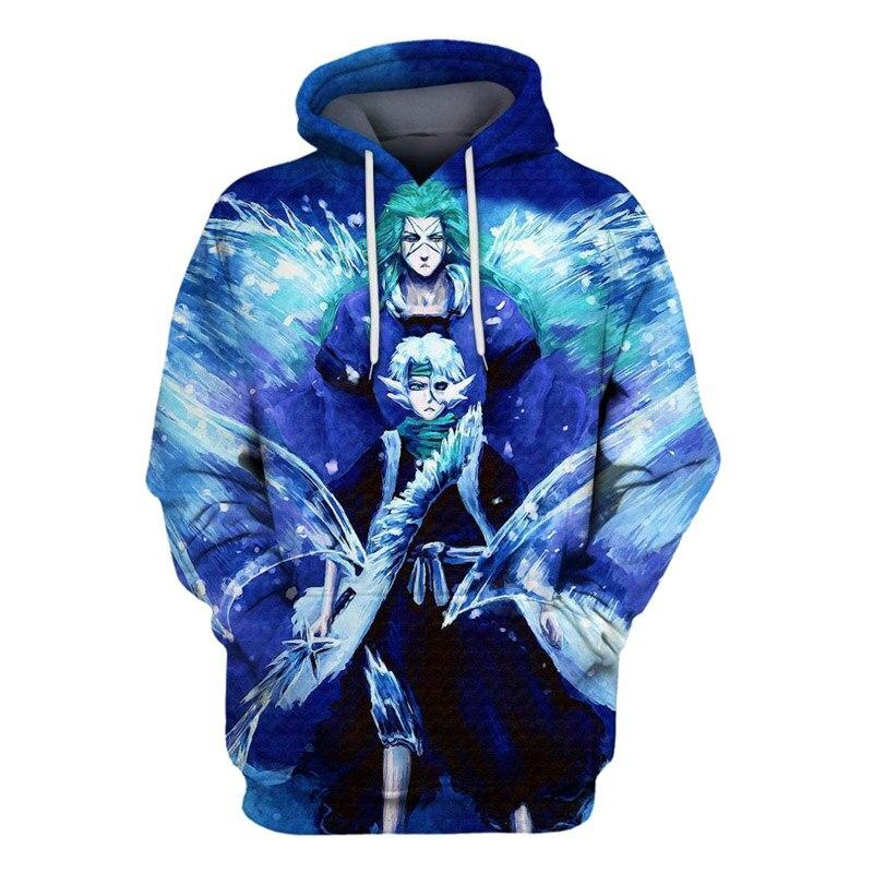Bleach Anime Hoodie 3d Print Jumper Men Women Cosplay Sweatshirt Fashion Pullovers Cartoon Hooded Pocket Sweatshirts Hoodies