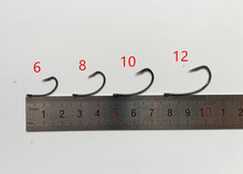 Rompin NEW ARRIVAL 50PCS/BOX High Carbon Steel Carp Fishing Hook  with Hole Barb Size # 6 #8 #10 #12