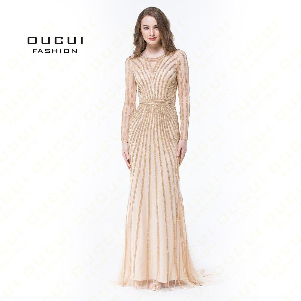 2019 Real Photo Dubai Fashion Evening Dress Tulle Crystal O Neck Formal Prom Dress Luxury Long