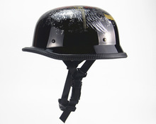 New German Military Style Motorcycle Helmet DOT Open Face Helmets Cruiser Chopper