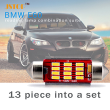 13piece into a set E60 led lights car lamp auto reading light T10 lamp W5W light led Festoon C5W 12V led car bulbs reading light
