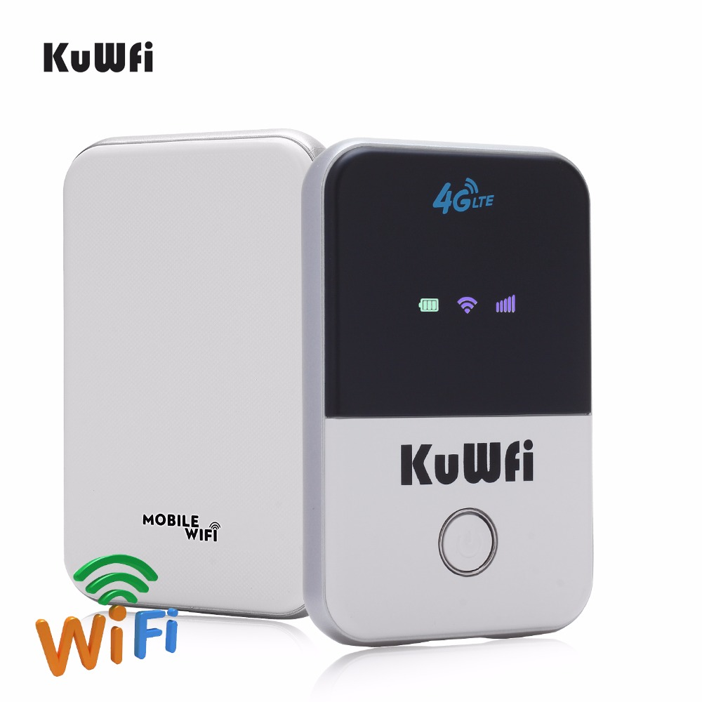 KuWFi 4G Wifi Router Mini LTE Wireless Router Unlocked 3G / 4G FDD / - Peralatan jaringan - Foto 3