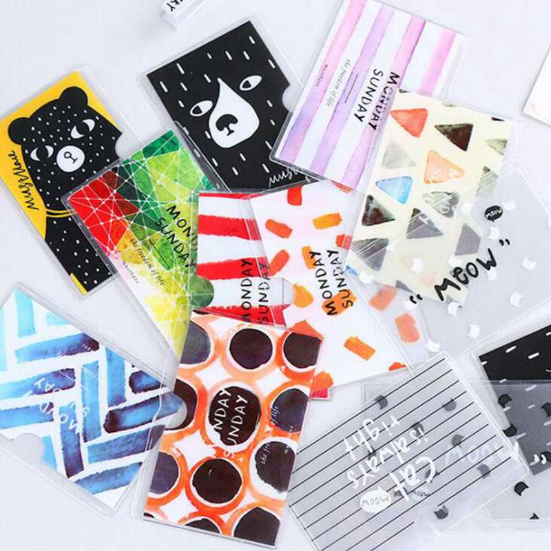 New 2 Layers Originality Cartoon PVC Transparent Card Set Bus Card Bank Card Holder Waterproof Protection Student Cute ID Cards