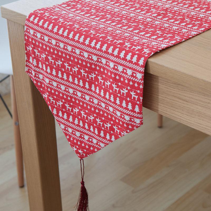 camino de mesa mantel de algodn borla decoracin de ao nuevo chemin de caminos de mesa