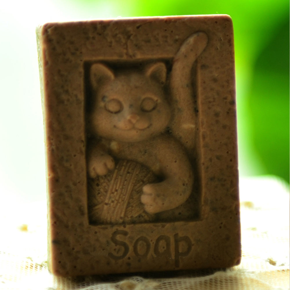 Soap Mold Soap making Tools Diy Craft Candle Mould Silicone Molds Handmade Cat