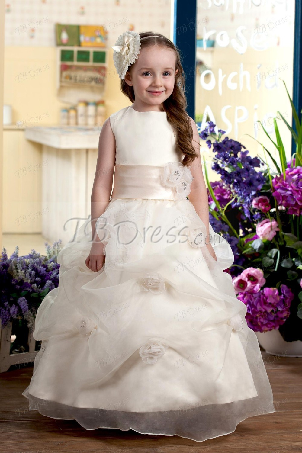 Popular Flowergirl Gowns-Buy Cheap Flowergirl Gowns lots from ...