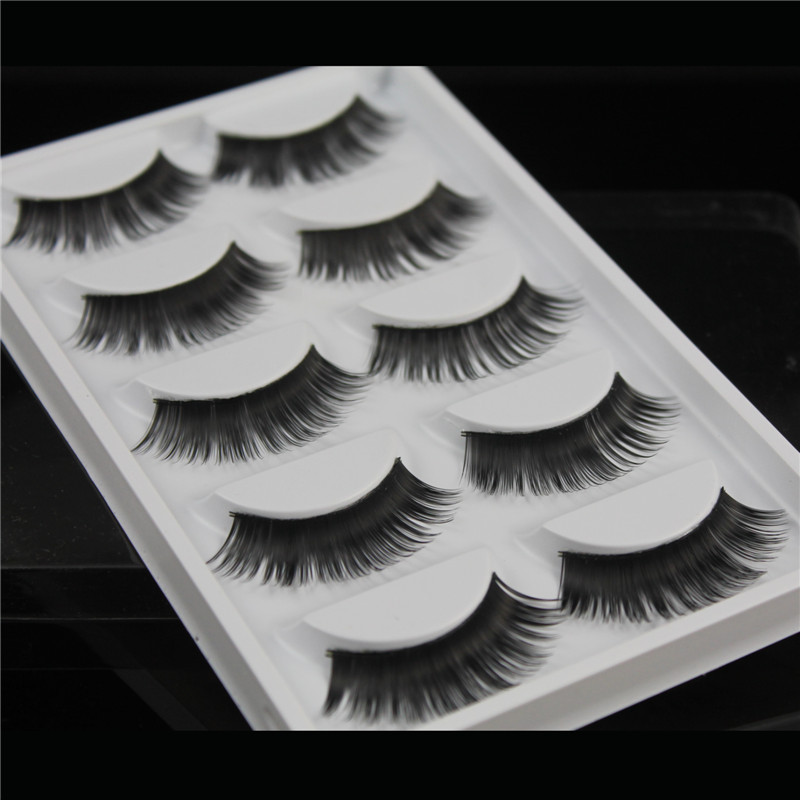W39 5 Pairs False Eyelashes Natural Long 3D Mink Hair Lashes Fake Eye Lashes Eyelash Extension Wispy Faux Cils Maquiagem Cilios