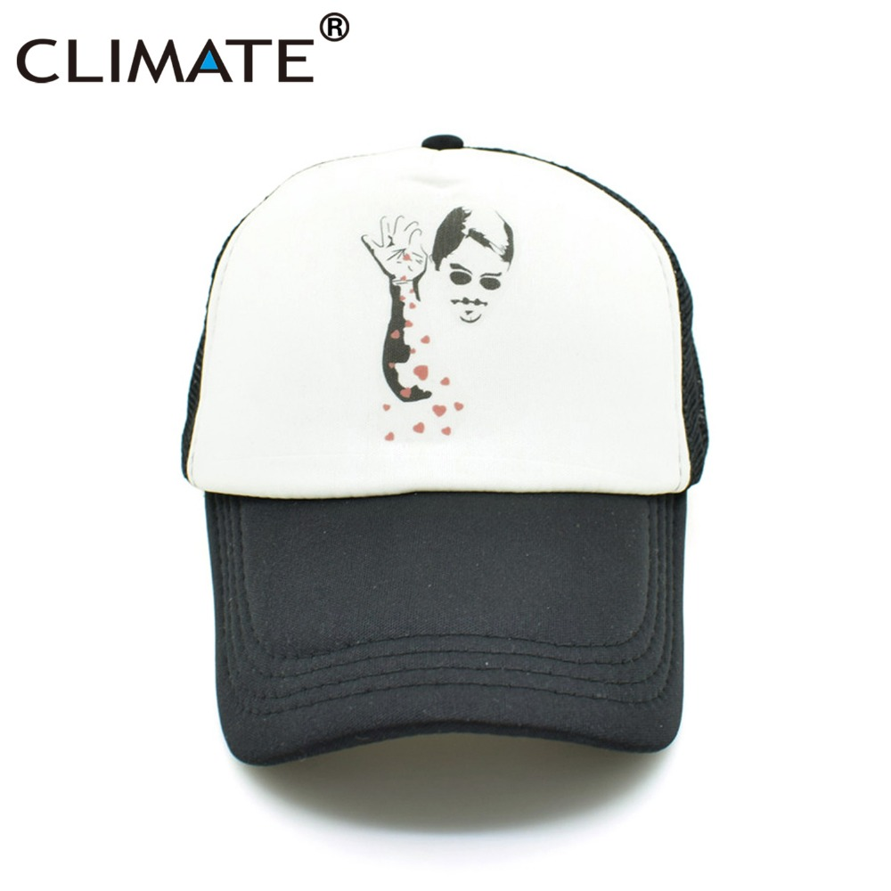 CLIMATE Women Men New Mesh Caps Instagram Star Salt Bae Fans Cool Summer Black Trucker Caps Hot Net Summer Trucker Hat Caps climate men summer black mesh caps star wars bounty hunter fans cool summer baseball cap black net trucker caps hat for men