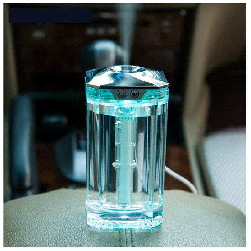 Mini Crystal Bottle 120ML Style Air Humidifier Ultrasonic Humidifier Aromatherapy Desktop Aroma Diffuser Car Air Purifier USB