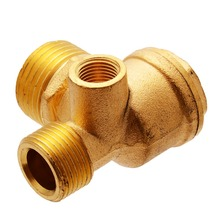 3 Port Brass Central Pneumatic Valves Air Compressor Check Valve Thread 90 Degree DIY Home Tools цена