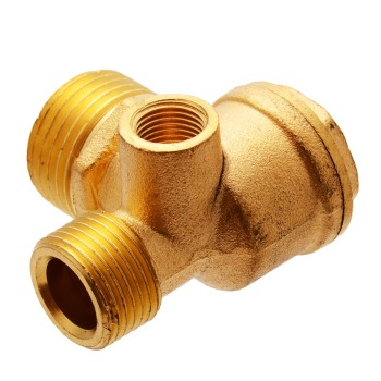 3 Port Brass Air Compressor Valve Air Compressor Check Valve Central Pneumatic Valves Thread 90 Degree DIY Home Tools 1 3 8 plunger check valve avoid direct contact between the torch flame and the valve body in any case replace superior valves