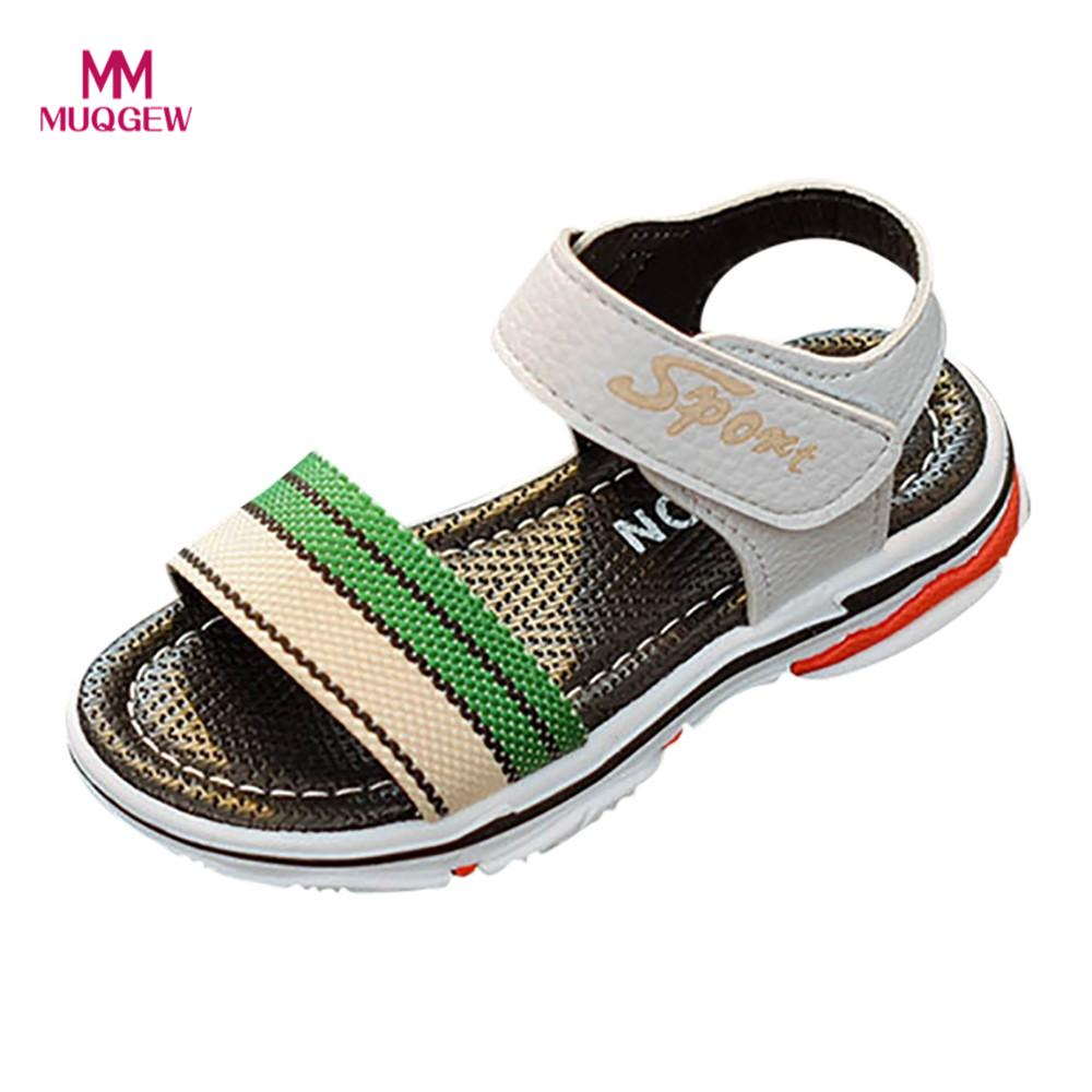 MUQGEW shoes Children Kids Infant Girls Boys Striped Letter Print Sandals Casual hot sale Shoes newest Rubber Outsole Material