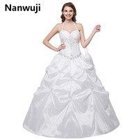 Vestido De Noiva Холтер Новый свадебное платье белый/слоновая кость Свадебные и Бальные платья Свадебные платья с Pleat Robe Mariage