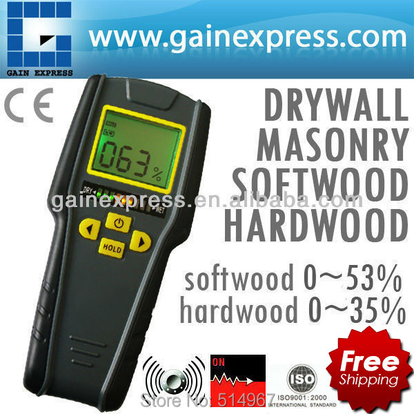 ФОТО Digital 4-in-1 Non-Invasive Inductive Moisture Meter for Drywall, Masonry, Softwood and Hardwood w/ Auto Calibration & Alarm