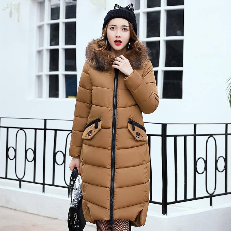 New Winter Jacket Women Coat 2017 Hot Sale Slim Fit Down Parkas Female Clothing Fur Collar Fashion Coat For Ladies Plus Size