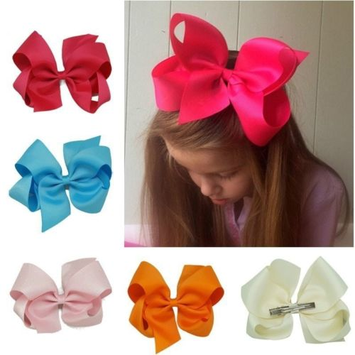 Girls Bow Tie Fahsion Simple Likesome Hairpin Big Ribbon Candy Color   Headwear   Hair Clip Pure Color Hair Accessories