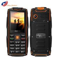 VKWorld New Stone V3 IP68 Waterproof 2.4inch 3000mAh Mobile Phone GSM FM Russian Keyboard 3 SIM Card Slots Flash Light Cellphone