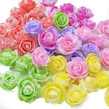 100pcs/lot Mini PE Foam Rose Flower Head Artificial Flowers Handmade DIY Wedding Home Decoration Festive & Party Supplies