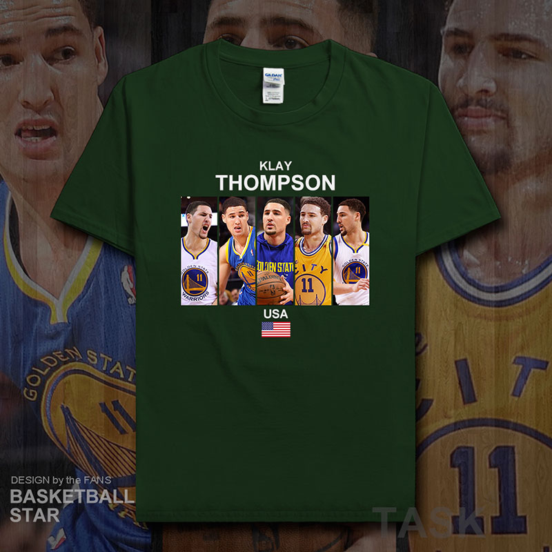 brand new 5f429 0bb82 US $5.99 |Klay Thompson t shirt men jerseys USA Golden State basketballer  star clothes Warriors sportswear sweatshirt tracksuit summer 20-in T-Shirts  ...