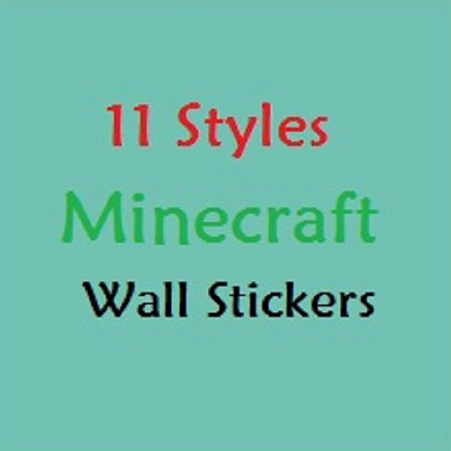 14 styles Newest Minecraft Wall Stickers 3D Wallpaper Kids Room Decal Minecraft Home Decoration Popular Games