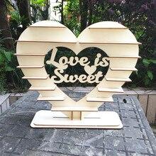 Ferrero Rocher soporte de corazón amor es dulce Chocolate muestra centro de mesa de madera Vintage decoración para fiesta de boda