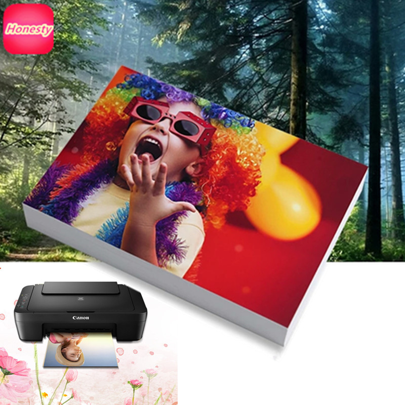 Papel fotográfico PAPEL DE 3R... 4R... 5R... 6R... A7... A6... A5... a4 100 hojas de papel fotográfico brillante de papel fotográfico de impresión de inyección de tinta para impresoras de inyección de suministros de oficina