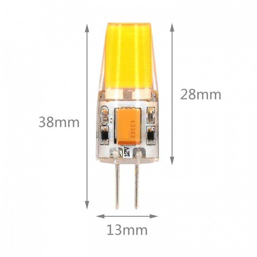 5PCS G4 LED Lamp 4W COB LED Bulb AC DC 12V Mini Lampada LED G4 COB Light 360 Beam Angle Lights Replace 20W halogen lamp