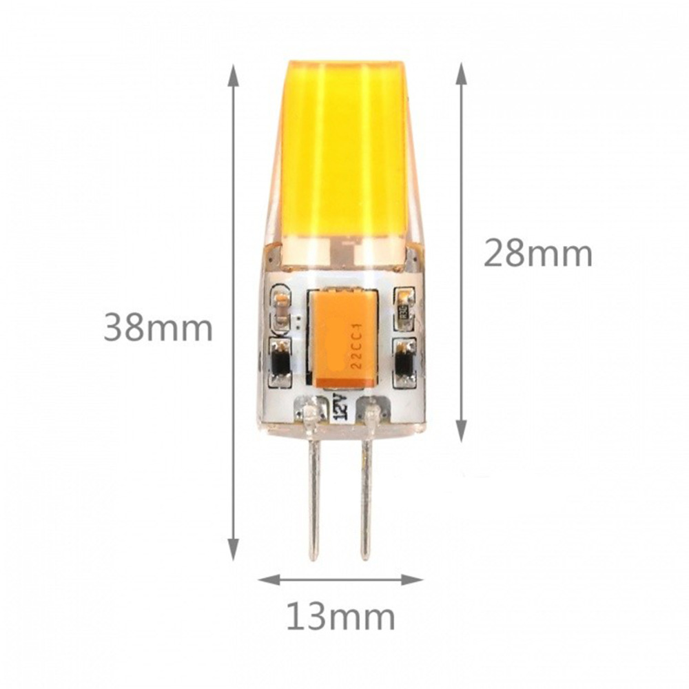 5PCS <font><b>G4</b></font> LED Lamp 4W COB LED Bulb AC DC 12V Mini Lampada LED <font><b>G4</b></font> COB Light 360 Beam Angle Lights Replace 20W halogen lamp image