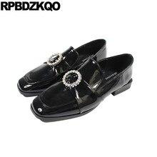 7bd2634f2 Cristal embelezado flats couro mocassins japonês china sapatos baratos preto  designer rhinestone chinês das mulheres de diamante