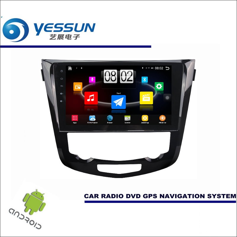 Yessun автомобиля Android мультимедийный плеер для Nissan X-Trail/Rogue 2014 ~ 2017 Радио стерео GPS nav Navi (Без CD DVD) 10 HD Экран