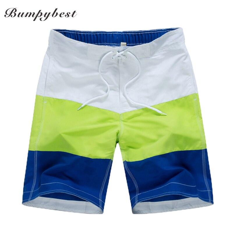 Bumpybeast 2017 Marke Kleidung herren Boardshorts Polyester Kordelzug Shorts Sommer streifen Dünne Kurze Hosen Für Mann