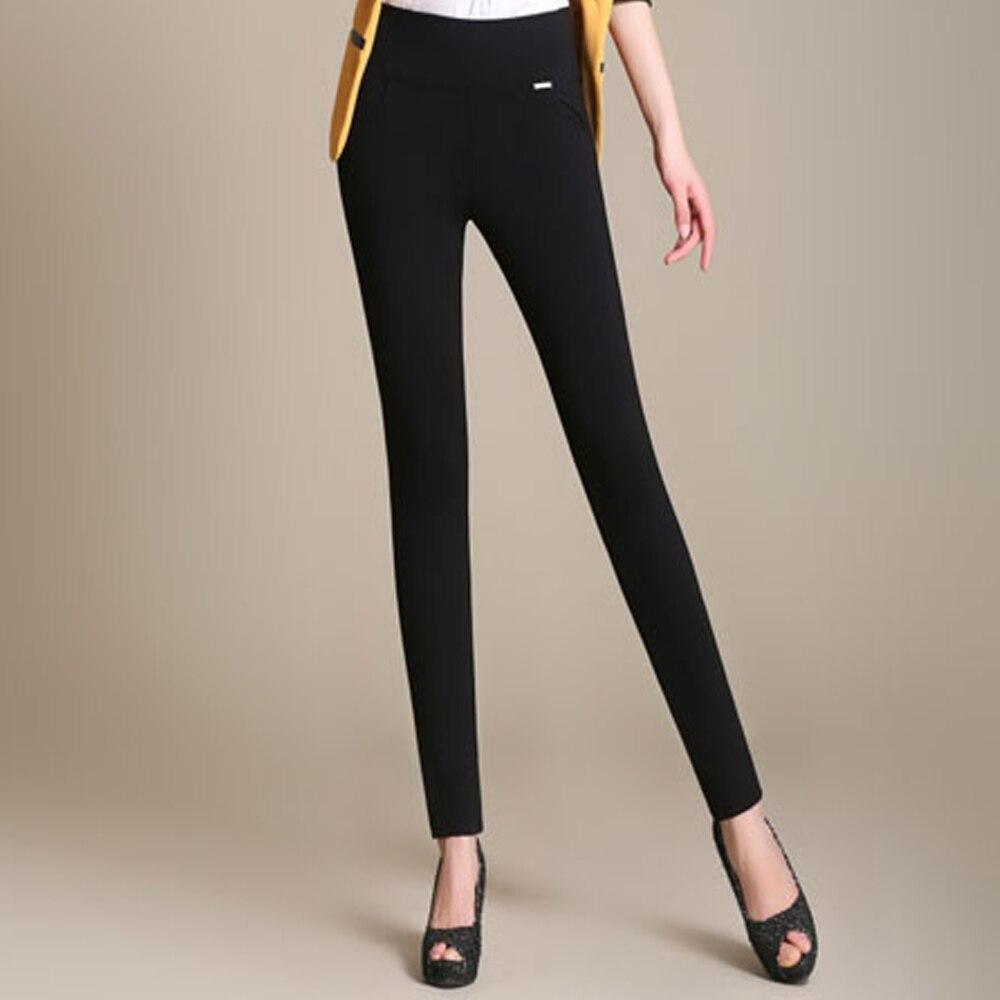 New High Waist Women Pencil Pants Capris Casual Office Outwear Leggings Female Stretch Pants Trousers Pantalones Mujer Plus Size