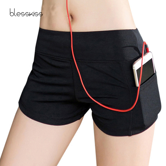 BLESSKISS Summer Sport Shorts For Women Yoga Fitness Clothing Ladies Running Cycling Gym Shorts Lulu Leggings Workout Wear Top