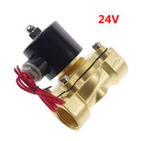 24VDC Water Air Oil Brass N C Electric Solenoid Valve 1 Inch BSPP X 1