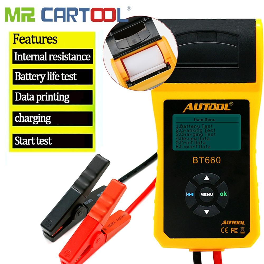 BT-660 Car Battery Test Analyzer 12V/24V Resistance Meter Capacity Voltage Checker Printer Auto Diagnostic-tool PK BT360 BT460BT-660 Car Battery Test Analyzer 12V/24V Resistance Meter Capacity Voltage Checker Printer Auto Diagnostic-tool PK BT360 BT460