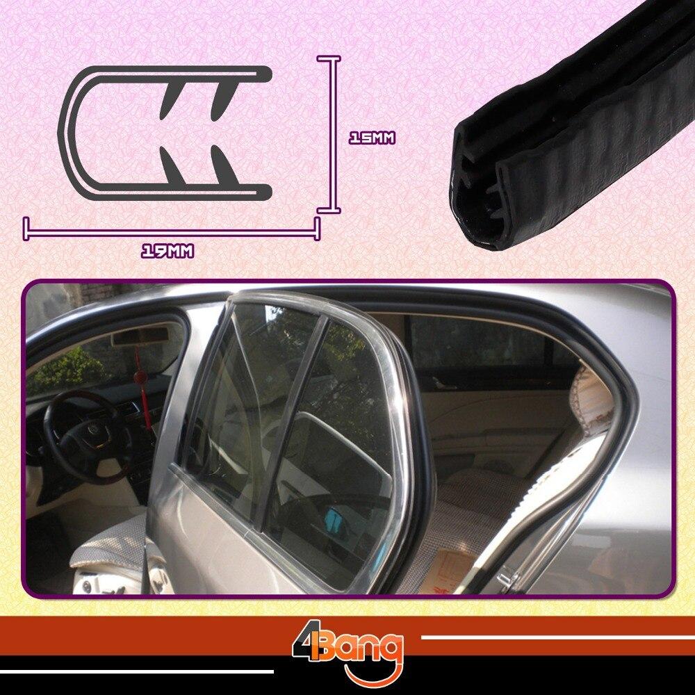 19mmx15mm Window Door Seal U Channel Black Edge RV Lok Trim Rubber Car Pillar Trailer Camper Dustproof Sound Insulation 40100cm ...