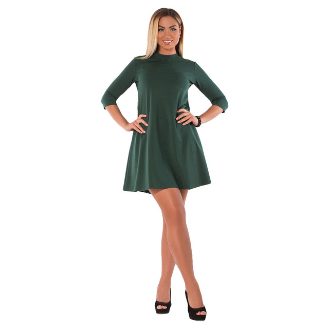 Aliexpress Buy Solid Office Dresses Large Sizes Short Party