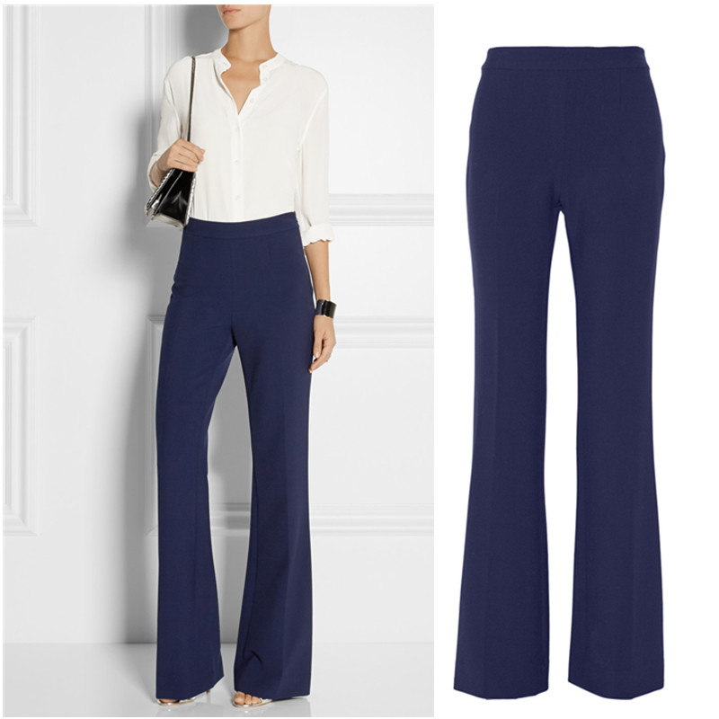 Longer Size Can fit 160cm -200cm height slim pants 2018 new Fashion brand England style elastic was thin flare trousers WQ12