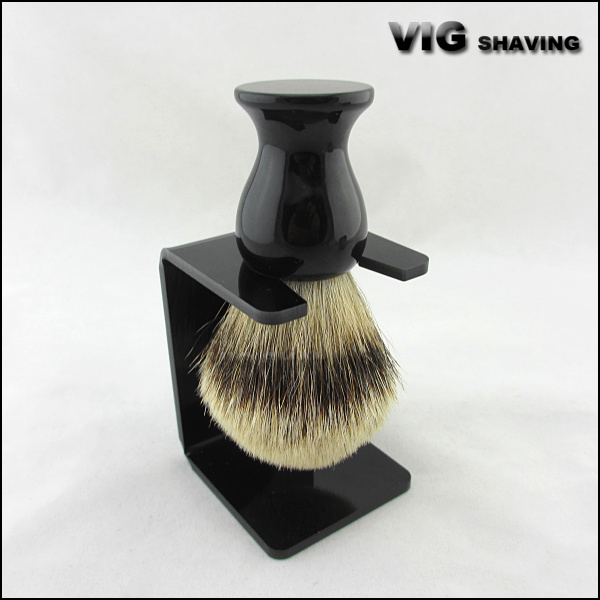 24mm knot Resin handle silvertip badger shaving brush with free stand