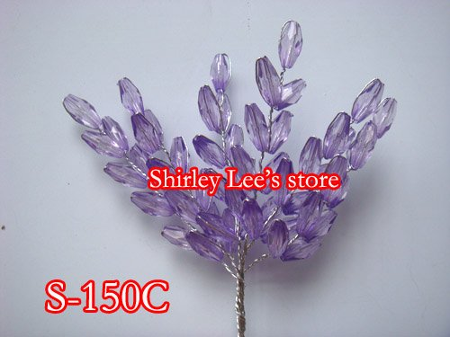 (Many Color Options ) 72 Bunches Acrylic Crystal Wheat Bunch Floral Decor Wedding Bouquets Floral Supplies
