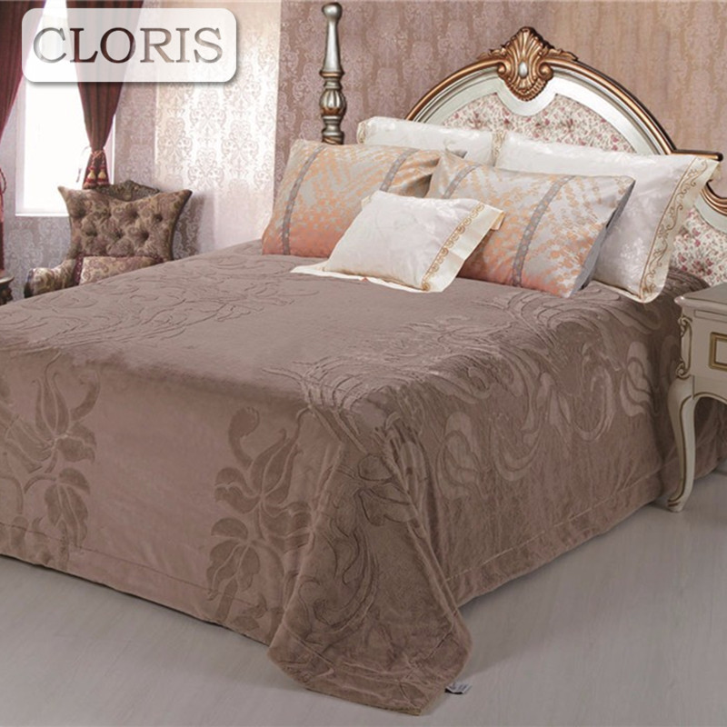 CLORIS Hot Sale Blanket Solid Best Gift Sofa Bed Bedspreads Moscow Supply Queen King Siz ...